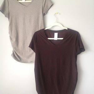 Black & Gray Maternity Tee set of 2